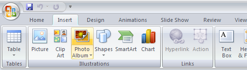 PowerPoint 2007: Add Photo album