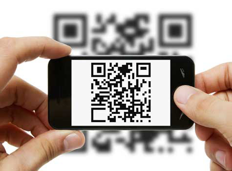 QR code on iPhone