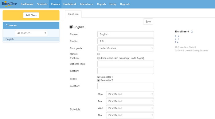 Screenshot of Thinkwave interface