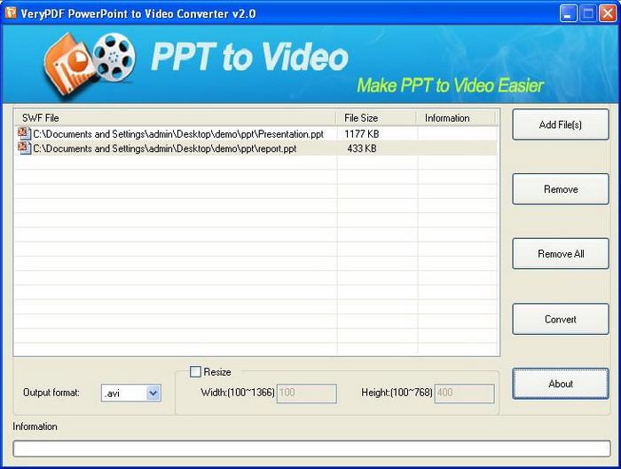 Screenshot of VeryPDF interface
