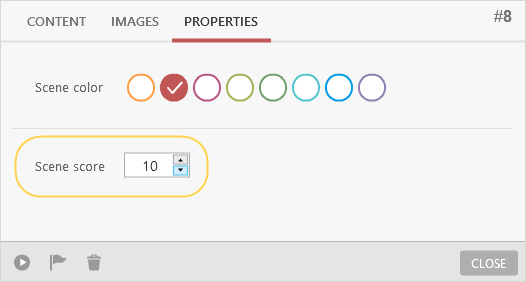 Selecting scene color and scene score in iSpring TalkMaster