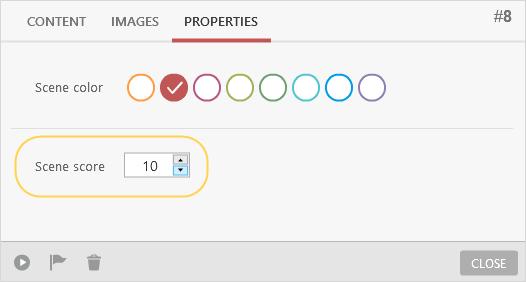 Selecting scene color and scene score in iSpring TalkMaster