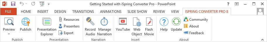 The iSpring Converter Pro 8 tab
