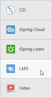 Various publishing options