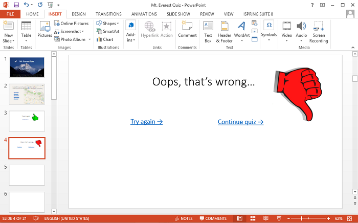 how to make answers appear in powerpoint