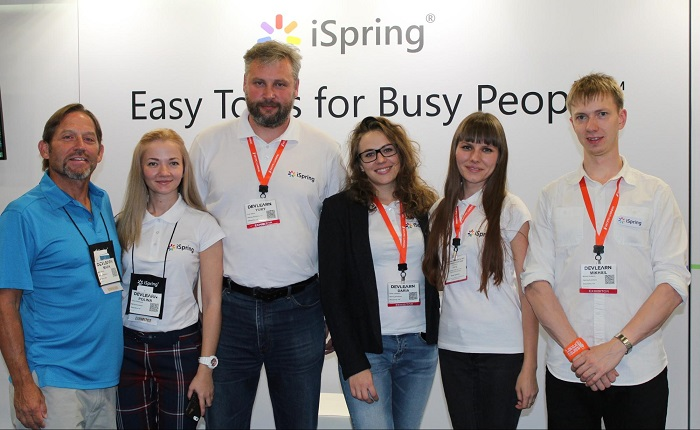 The iSpring team at DevLearn 2015