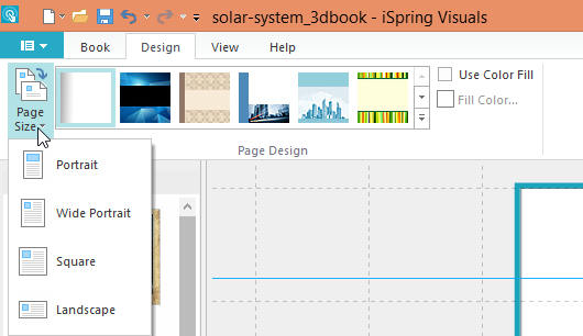Choosing a page size for a flipbook
