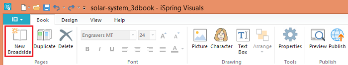 iSpring Visuals toolbar