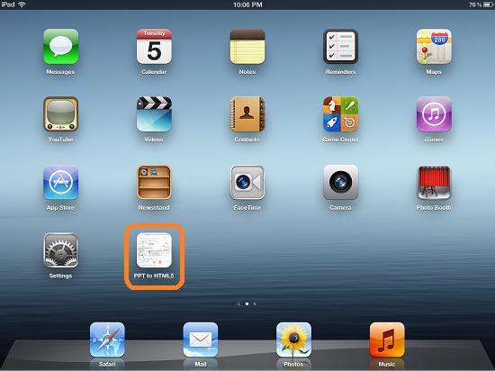 iPad Full Screen Web App: New Icon on Home screen