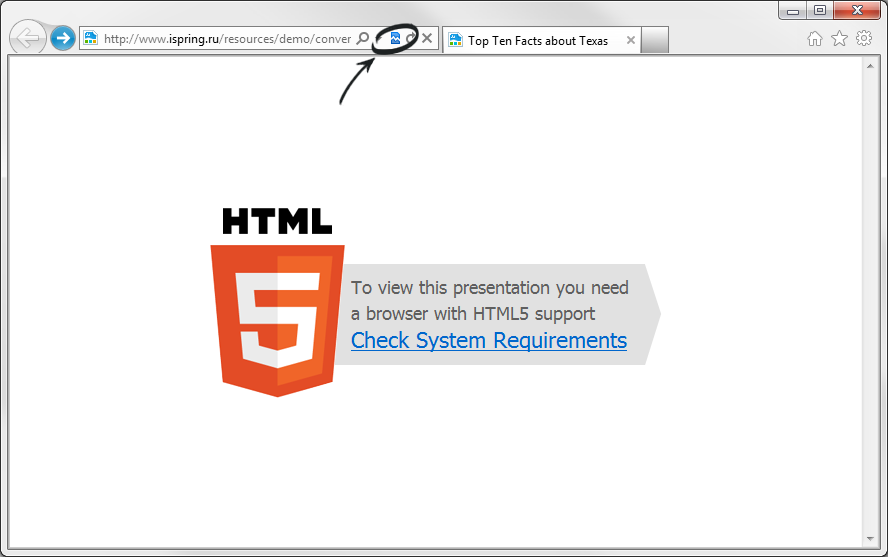 Why HTML5 Presentation Doesn't Play in Internet Explorer 9?