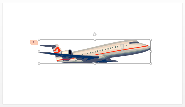 Picture 2: Airplane image in PowerPoint