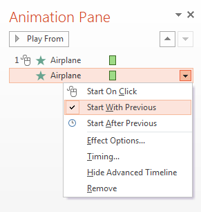 Picture 4: Set animation timing in PowerPoint
