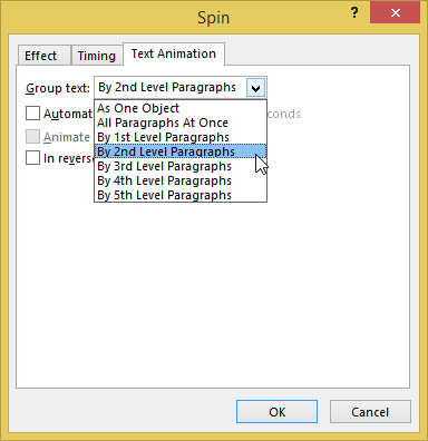 Picture 7: Animate text by paragraph in PowerPoint
