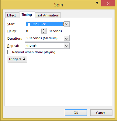 Picture 6: Set animation timing in PowerPoint