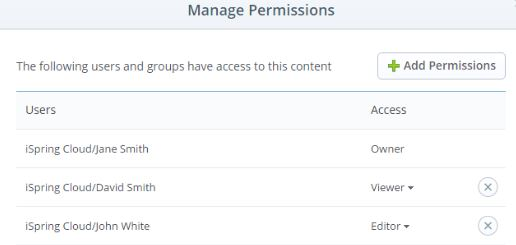User management in iSpring Cloud