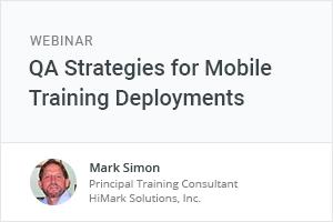 Webinar QA Strategies for Mobile Training