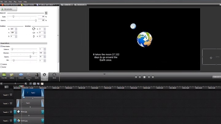 Camtasia Studio's video editor