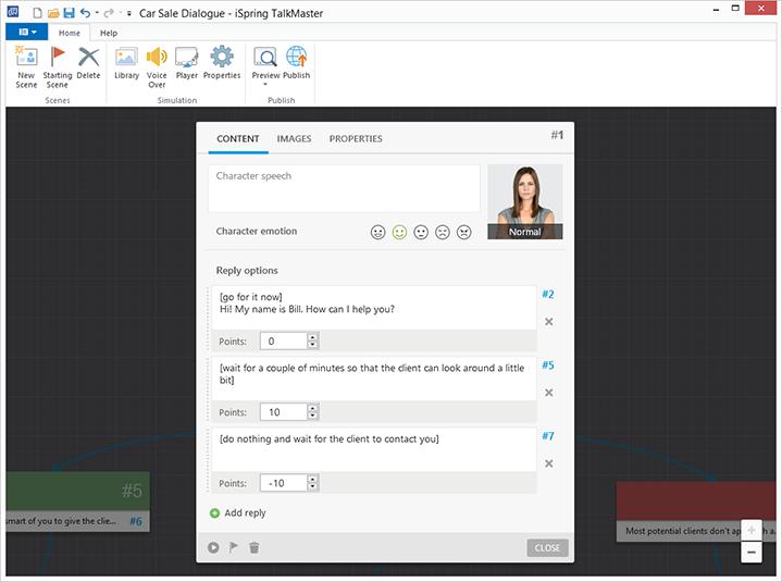 Scoring in iSpring TalkMaster