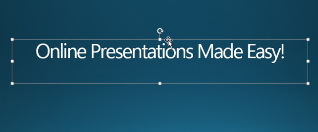 Picture 1: Text box in PowerPoint