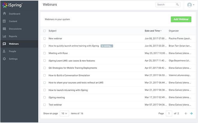 Create a webinar