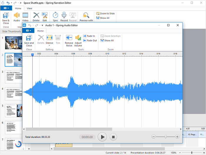 How to record audio in iSpring Suite