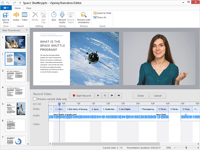 How to record a video in iSpring Suite