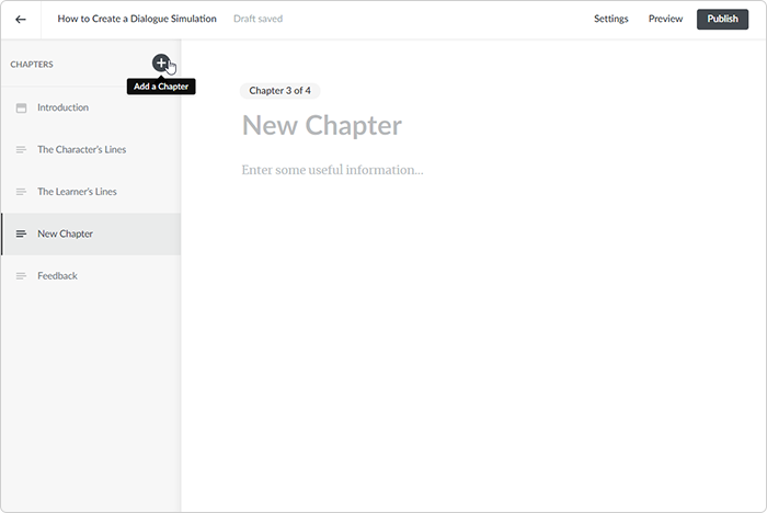 Add a chapter in iSpring Learn