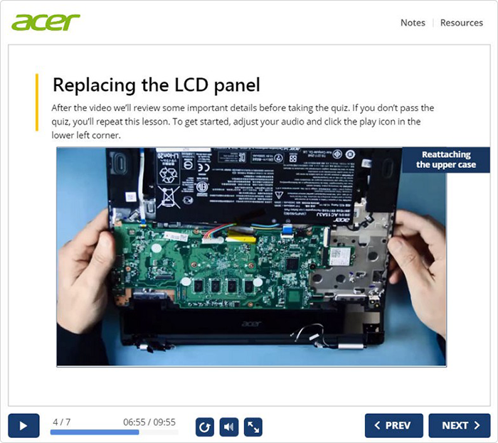 "Acer: ""With iSpring, we are training students to repair"