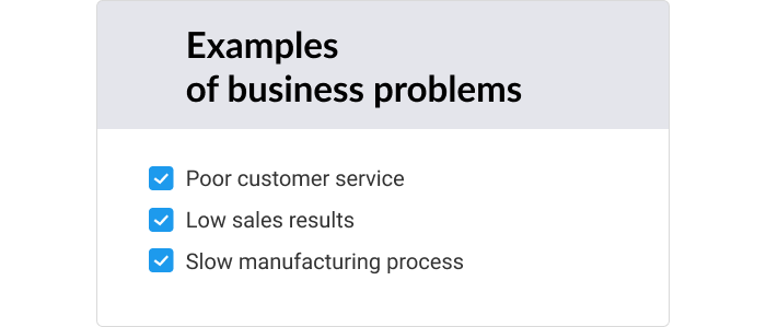 Examples of business issues