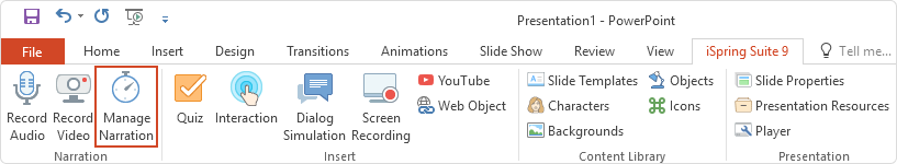 Adding audio and video narration to a PowerPoint presentation