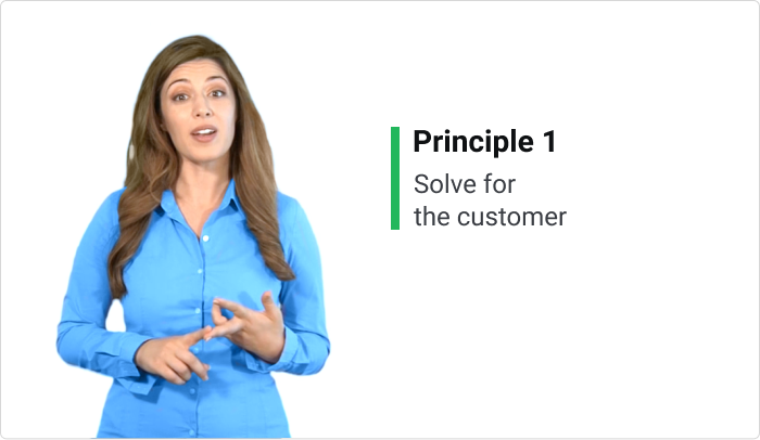 A screenshot from an onboarding video course