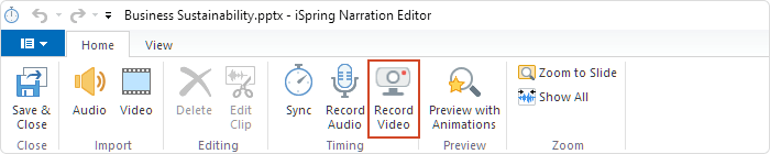 iSpring Suite video editor