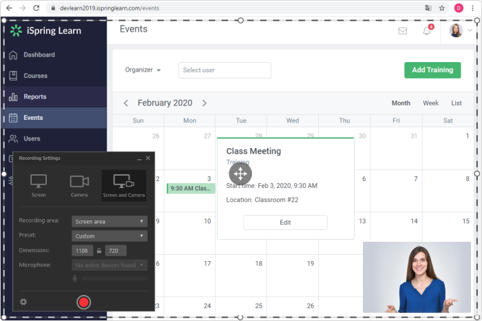 iSpring Suite screen recorder