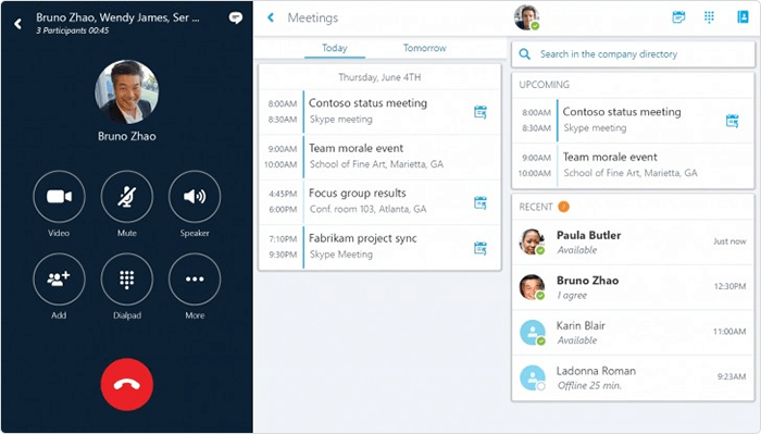 Skype for remote working