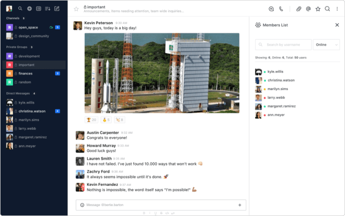 Rocket.Chat for remote working