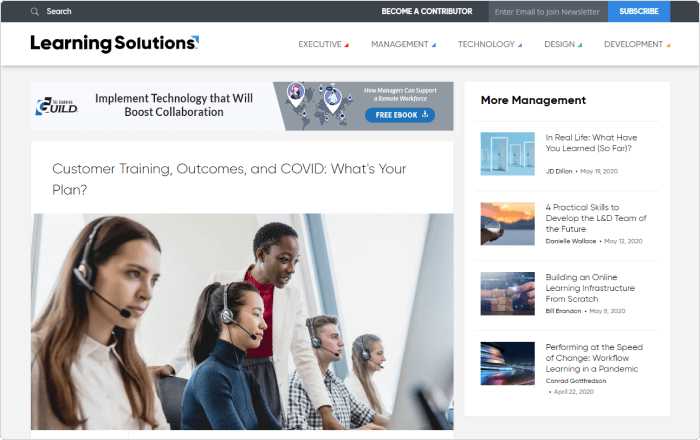 Learning Solutions website
