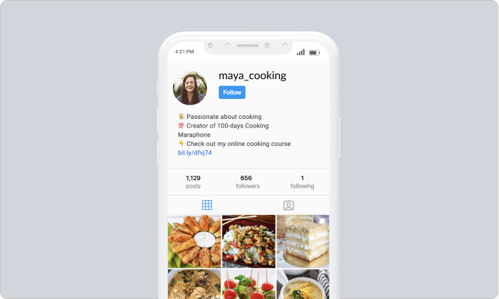 Maya cooking Instagram page