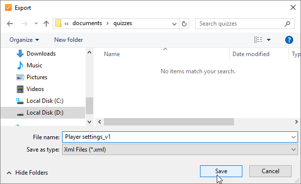 Importing And Exporting Player Settings Ispring Quizmaker 9