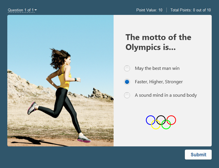 Olympic games published quiz