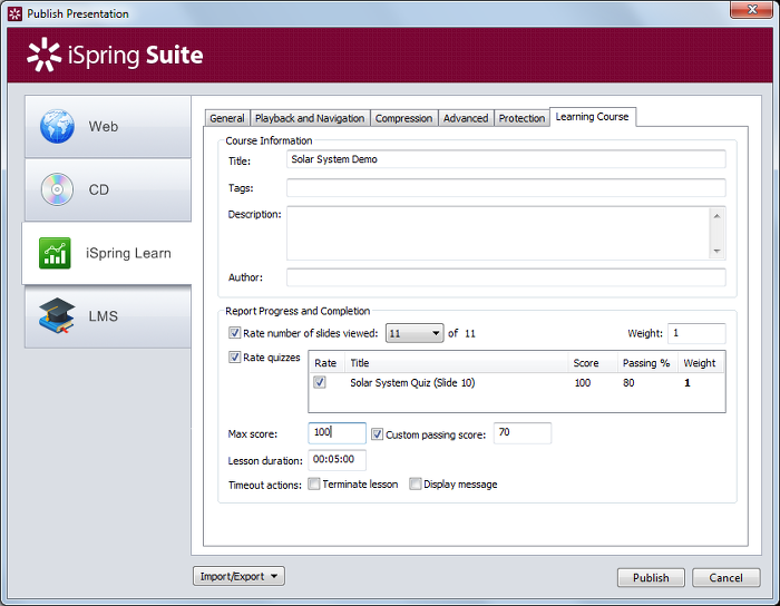 using the resume option in ispring lms