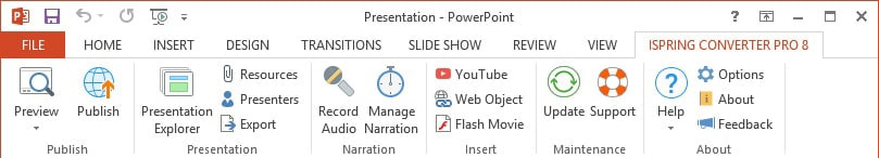 iSpring Convert PowerPoint to Flash, HTML5, and Video