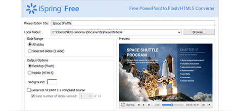 free powerpoint to flash html5 converter ispring free