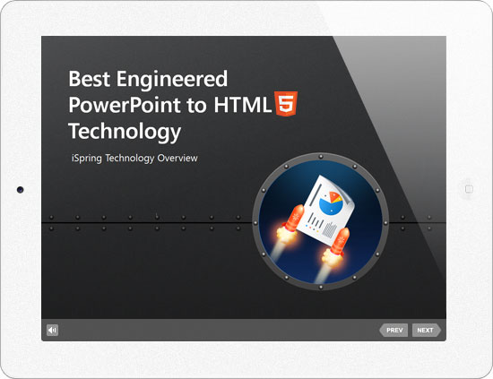 Picture 1: HTML5 presentation technology