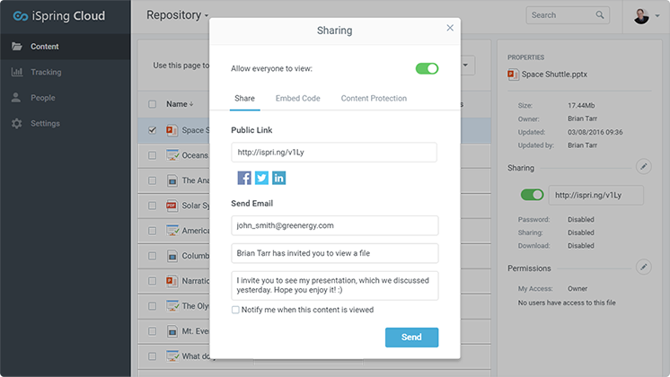 upload and share powerpoint presentations online with ispring cloud