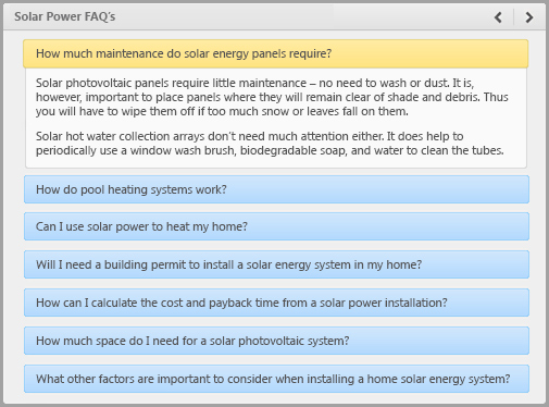 FAQ created with iSpring e-Learning software