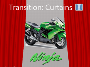 PowerPoint Transition: Curtains