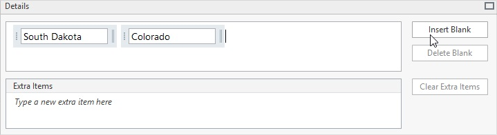 Inserting blanks in the Word Bank question