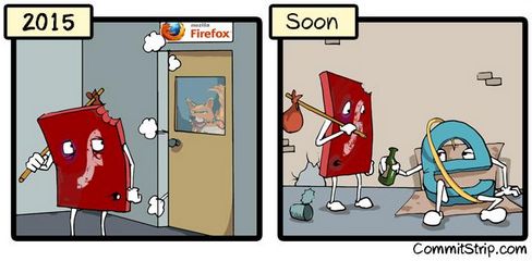 Flash got beaten by the firefox and runs into to the drunkhead IE.