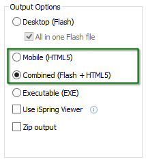 Use Mobile (HTML5) or Combined (Flash+HTML5) to overcome the issue with blocking the web content that you produce.