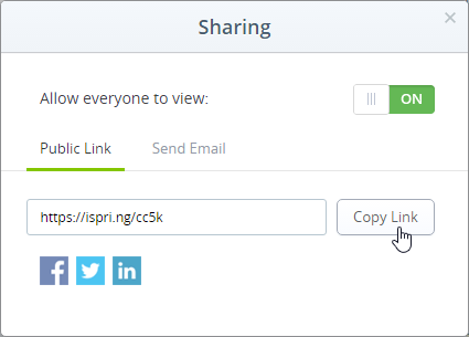 Get a public link from the Share window.